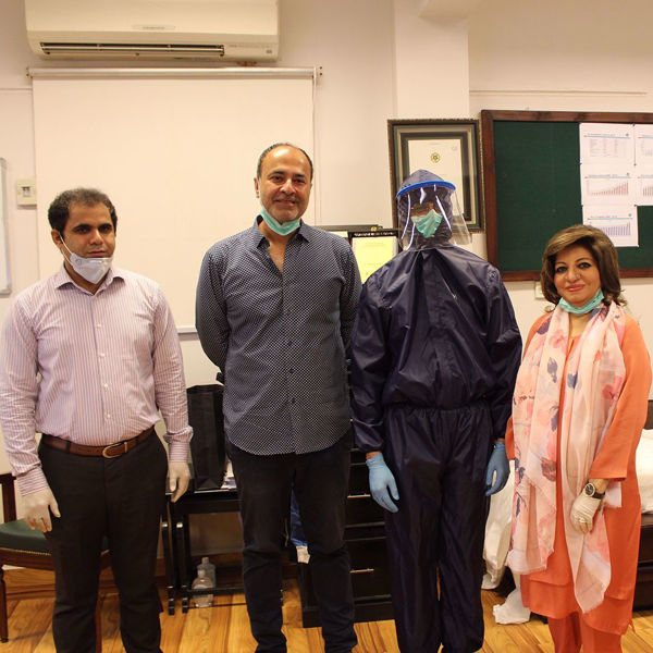 Picture of Deepak Perwani with Dr. Seemin Jamali, Executive Director at JPMC